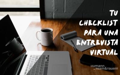 Tu checklist para una entrevista virtual